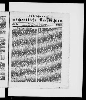 Züllichauer wöchentliche Nachrichten vom 17.01.1841
