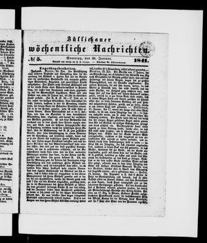 Züllichauer wöchentliche Nachrichten vom 31.01.1841