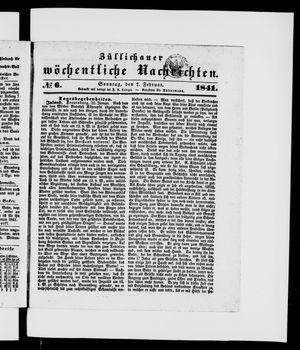 Züllichauer wöchentliche Nachrichten vom 07.02.1841