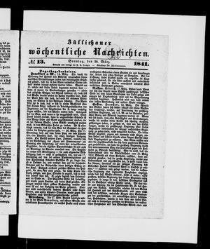Züllichauer wöchentliche Nachrichten vom 28.03.1841