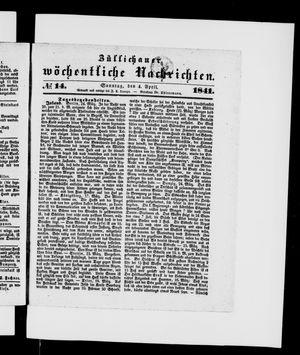 Züllichauer wöchentliche Nachrichten vom 04.04.1841