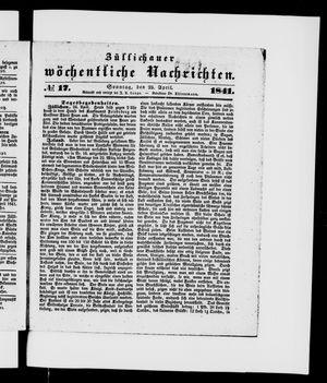 Züllichauer wöchentliche Nachrichten vom 25.04.1841