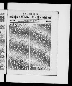 Züllichauer wöchentliche Nachrichten vom 02.05.1841