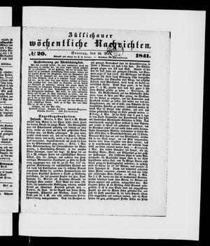 Züllichauer wöchentliche Nachrichten vom 16.05.1841