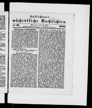 Züllichauer wöchentliche Nachrichten vom 23.05.1841