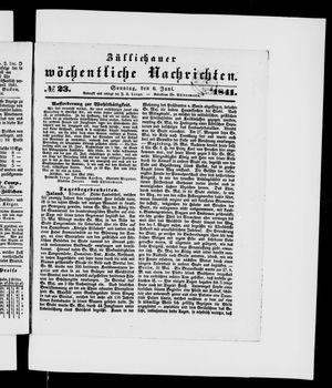 Züllichauer wöchentliche Nachrichten vom 06.06.1841