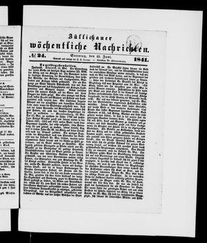 Züllichauer wöchentliche Nachrichten vom 13.06.1841