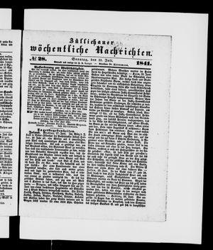 Züllichauer wöchentliche Nachrichten vom 11.07.1841