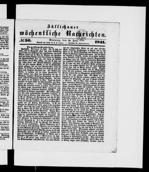 Züllichauer wöchentliche Nachrichten on Jul 25, 1841
