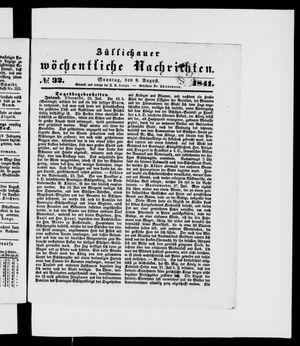 Züllichauer wöchentliche Nachrichten vom 08.08.1841
