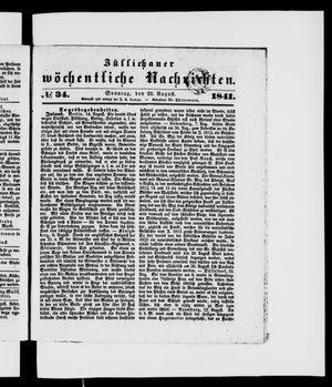 Züllichauer wöchentliche Nachrichten vom 22.08.1841