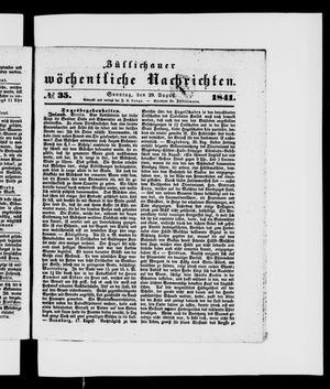 Züllichauer wöchentliche Nachrichten vom 29.08.1841