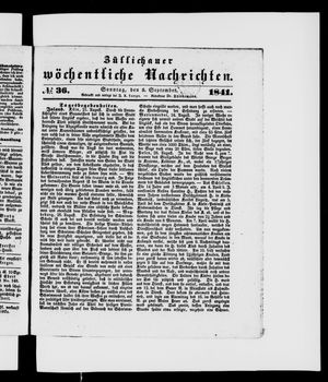 Züllichauer wöchentliche Nachrichten vom 05.09.1841