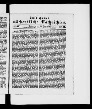 Züllichauer wöchentliche Nachrichten vom 12.09.1841