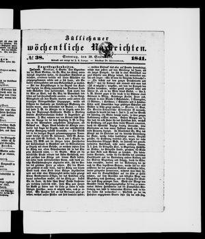 Züllichauer wöchentliche Nachrichten vom 19.09.1841