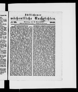 Züllichauer wöchentliche Nachrichten vom 26.09.1841