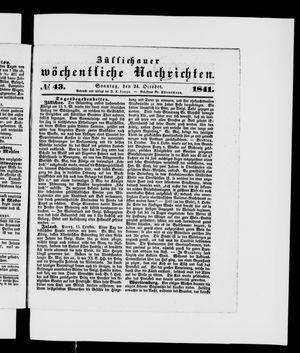 Züllichauer wöchentliche Nachrichten vom 24.10.1841