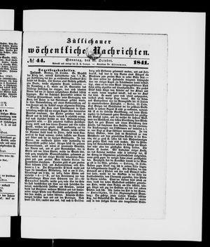 Züllichauer wöchentliche Nachrichten vom 31.10.1841