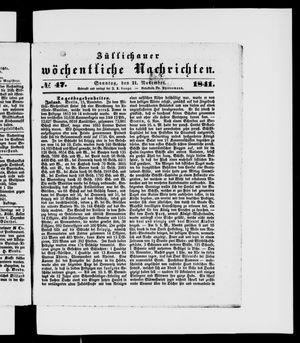 Züllichauer wöchentliche Nachrichten vom 21.11.1841