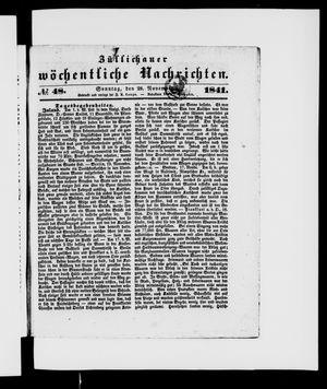 Züllichauer wöchentliche Nachrichten vom 28.11.1841