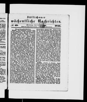 Züllichauer wöchentliche Nachrichten vom 05.12.1841