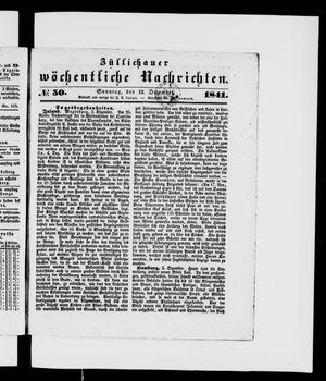Züllichauer wöchentliche Nachrichten vom 12.12.1841