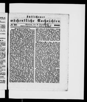 Züllichauer wöchentliche Nachrichten vom 19.12.1841