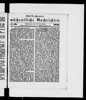 Züllichauer wöchentliche Nachrichten vom 26.12.1841