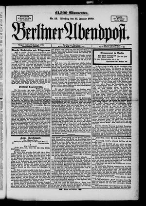 Berliner Abendpost vom 15.01.1889