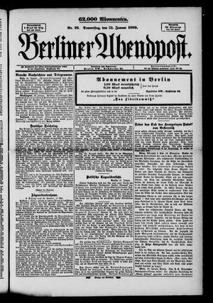 Berliner Abendpost on Jan 31, 1889
