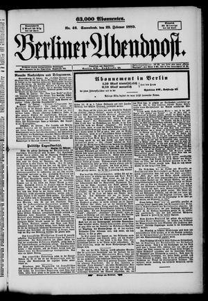Berliner Abendpost on Feb 23, 1889