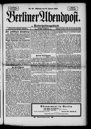 Berliner Abendpost on Feb 27, 1889