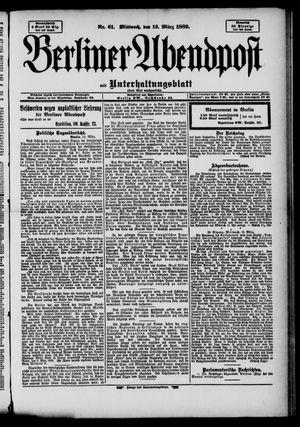 Berliner Abendpost on Mar 13, 1889