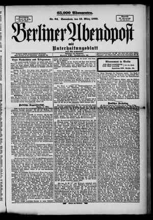 Berliner Abendpost on Mar 16, 1889