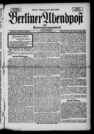 Berliner Abendpost vom 08.04.1889