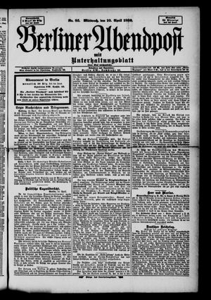 Berliner Abendpost on Apr 10, 1889