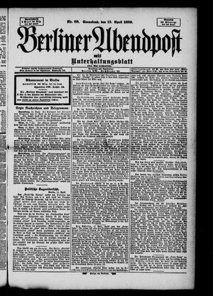 Berliner Abendpost on Apr 13, 1889