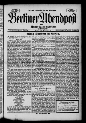 Berliner Abendpost on May 23, 1889