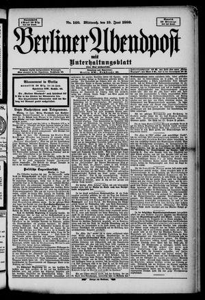Berliner Abendpost on Jun 19, 1889