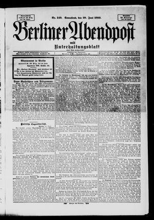 Berliner Abendpost on Jun 29, 1889