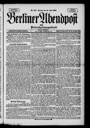 Berliner Abendpost on Jul 12, 1889