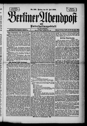 Berliner Abendpost on Jul 19, 1889