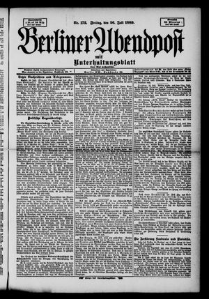 Berliner Abendpost on Jul 26, 1889
