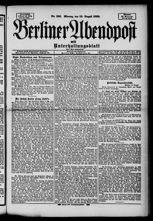 Berliner Abendpost on Aug 12, 1889