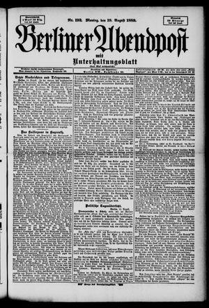 Berliner Abendpost on Aug 19, 1889
