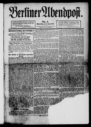 Berliner Abendpost vom 02.01.1890
