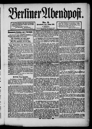 Berliner Abendpost vom 04.01.1890