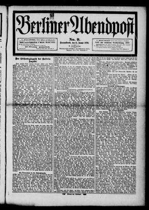 Berliner Abendpost vom 11.01.1890