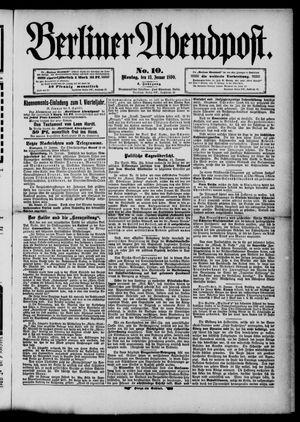 Berliner Abendpost vom 13.01.1890