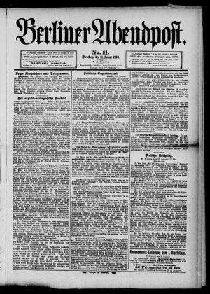 Berliner Abendpost vom 14.01.1890